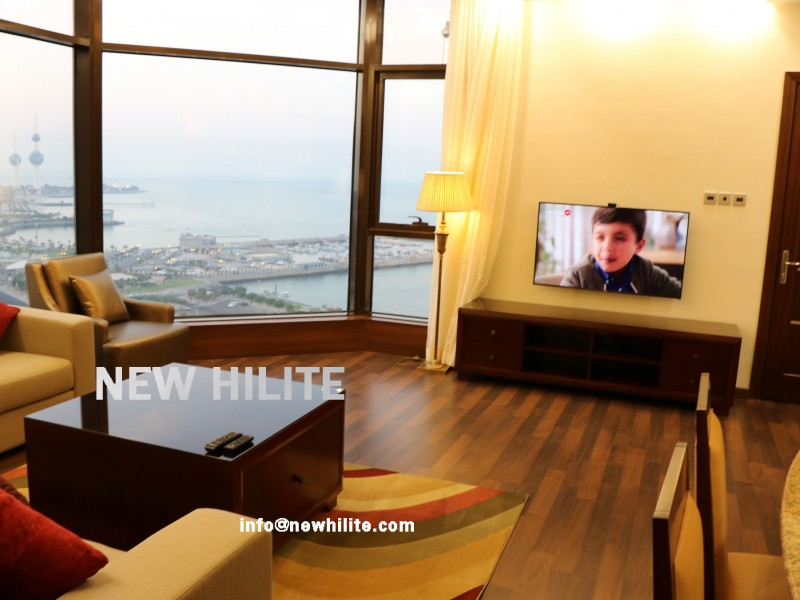 Fully furnished Two Bedroom Serviced Apartment For Rent,Close to Kuwait City