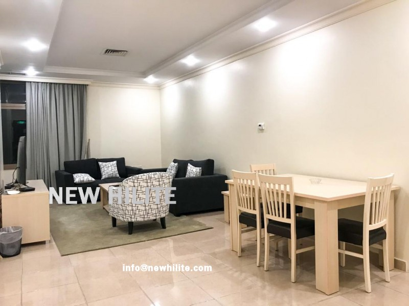 Fully Furnished two bedroom sea view apartment in Salmiya
