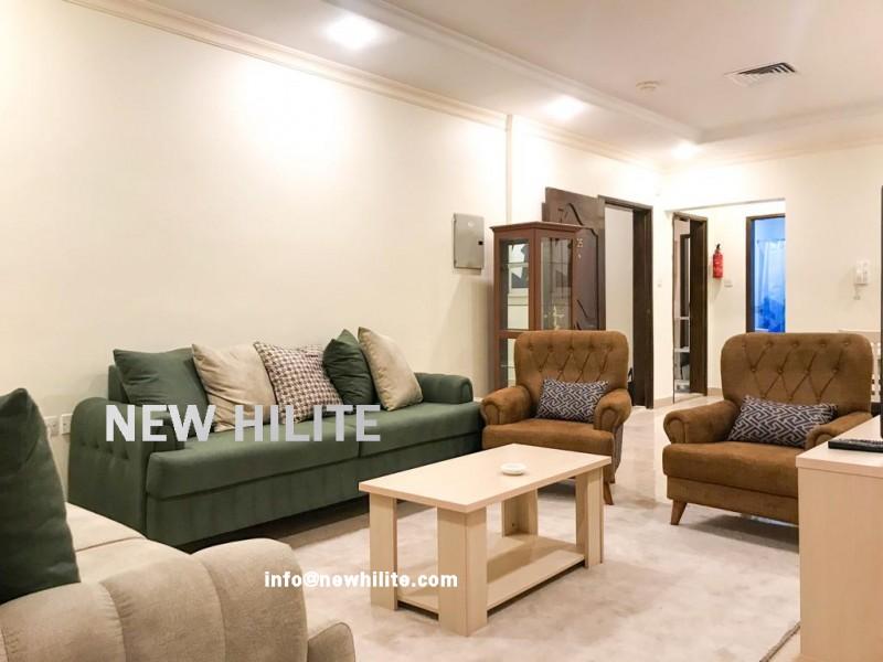 Furnished sea view three bedroom apartment in Salmiya