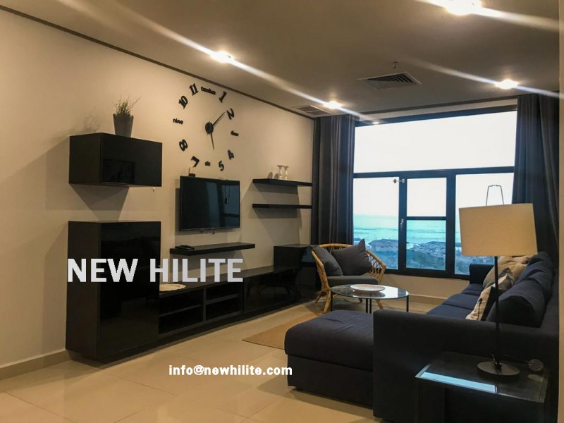 Two Bedroom Sea view Apartment for Rent in Salmiya