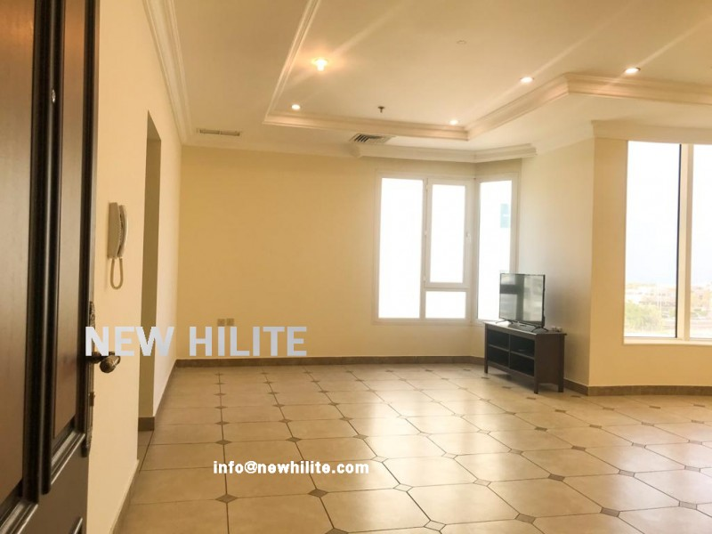 Sea view two bedroom apartment with balcony for rent in Salmiya
