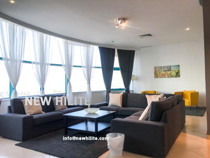 Three bedrooms fully furnished Sea view apartment for rent in Salmiya