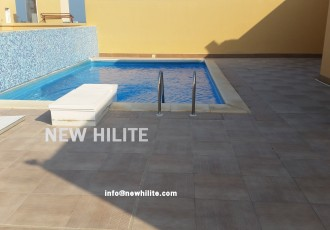 Sea view villa with pool for rent in Messila